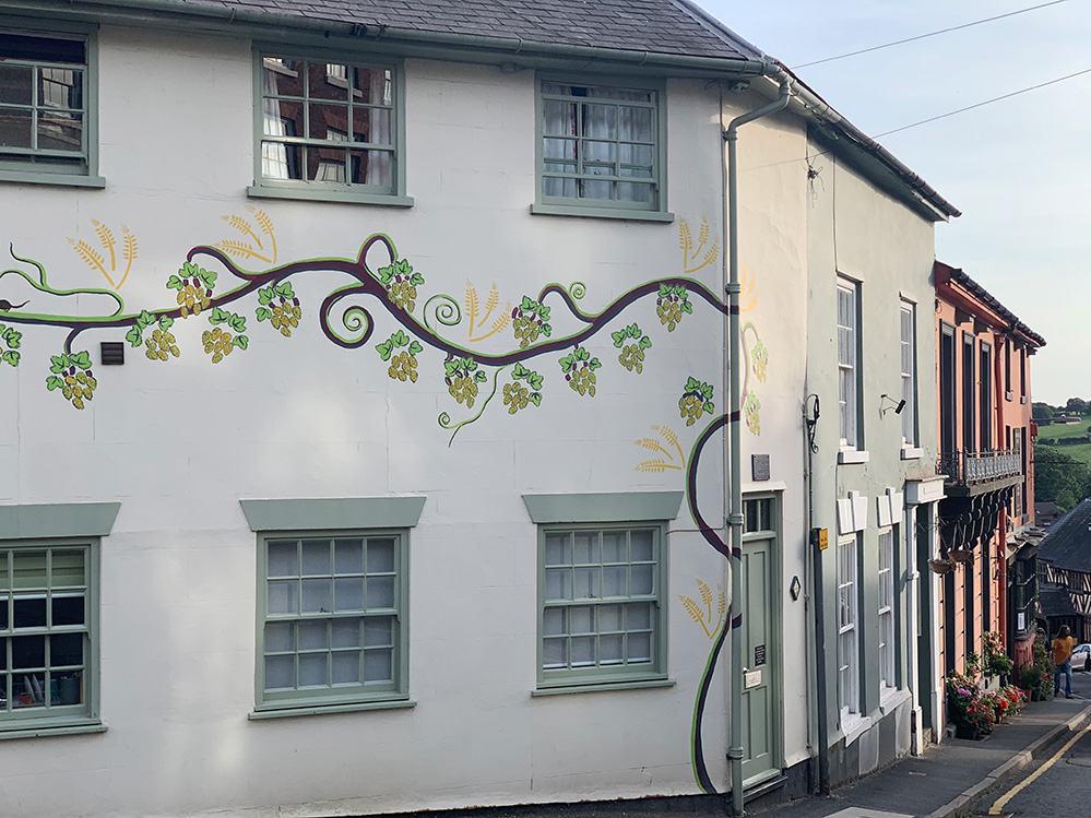 The flower painted House